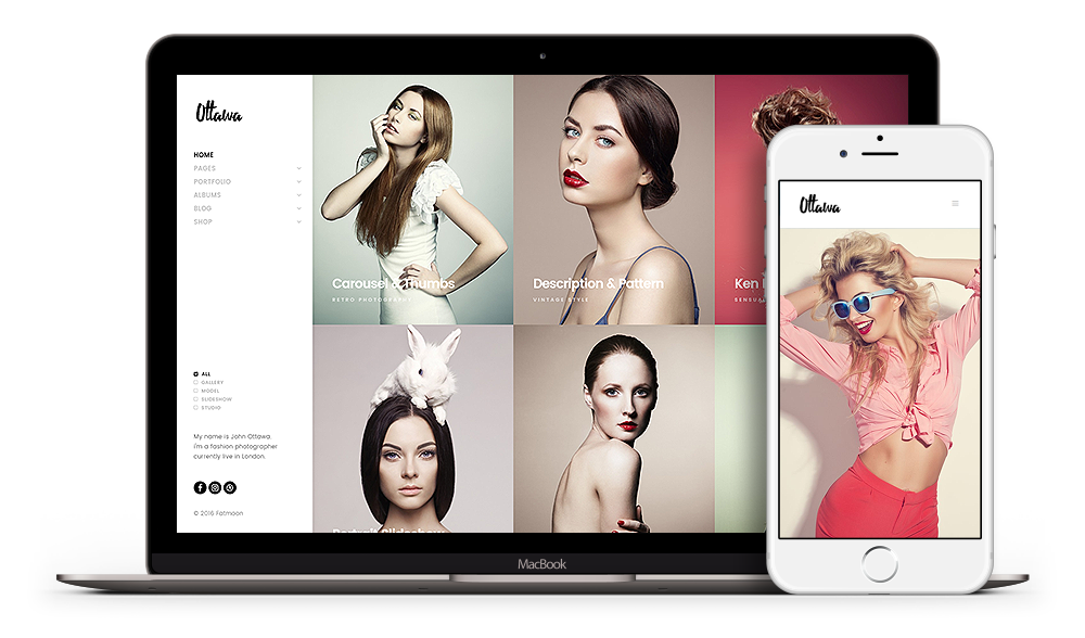 FatMoon - Professional WordPress Theme presented on various devices