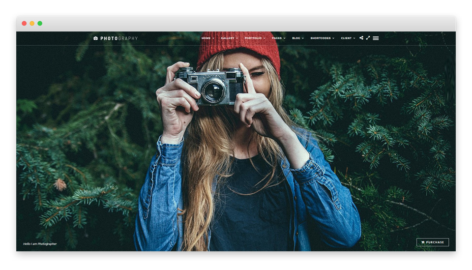 Photography theme preview