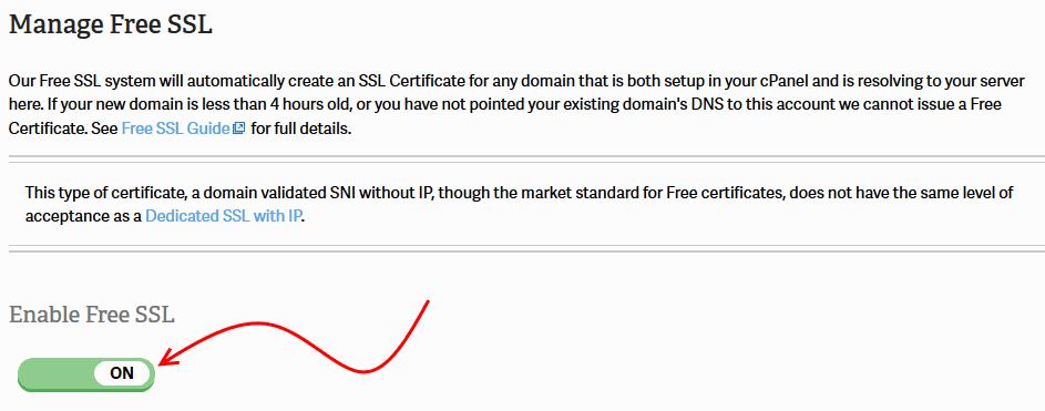 Enabling Free SSL on Inmotion Hosting