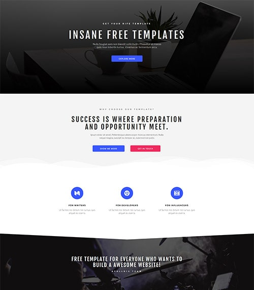 Bold - Free Elementor Templates