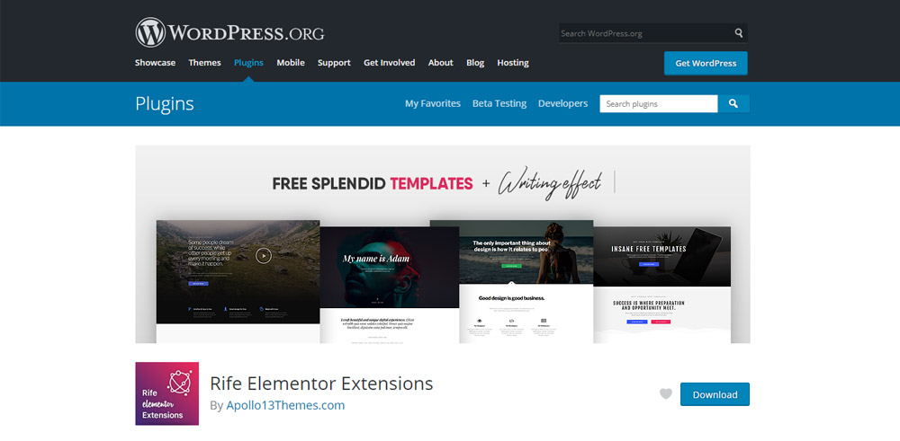 Download Free Elementor Templates plugin from the WordPress.org