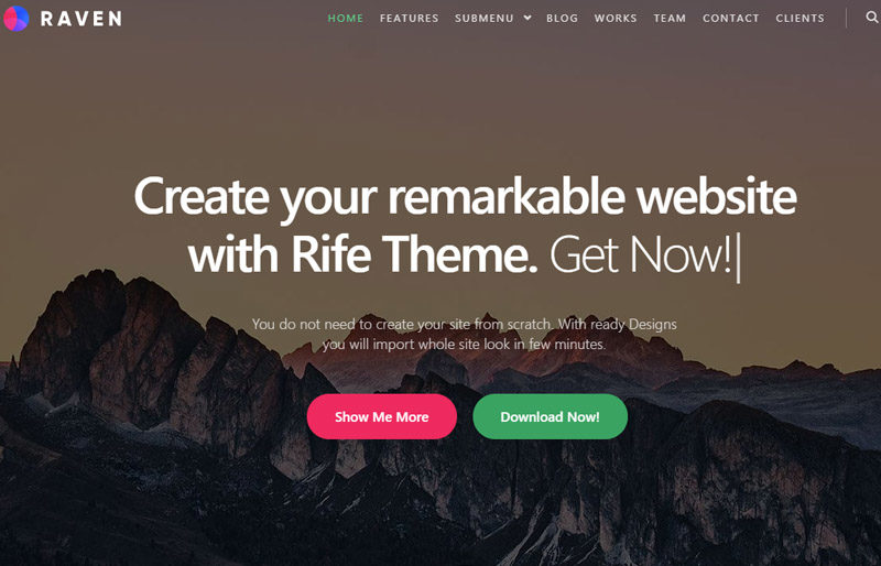 Rife-Free-business-site-Rife-theme