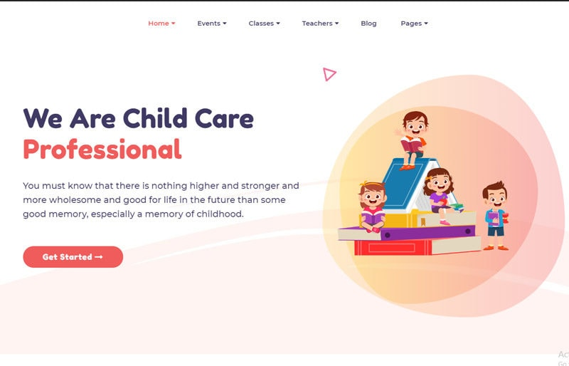 WordPress-kindergarten-theme