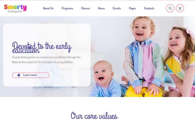 Smarty-WordPress-themes-kindergarten-sites